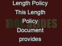 IET Research Journals Policy Document Length Policy This Length Policy Document provides guidance on the expected length of regular papers
