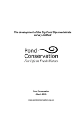 The development of the Big Pond Dip invertebrate survey method  ...
