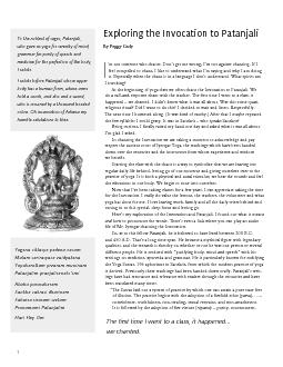 What follows are two articles by Geeta Iyengar, about the Invocation t
