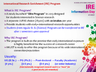 International Research Enrichment (IRE) ProgramWhat is IRE Program? ..