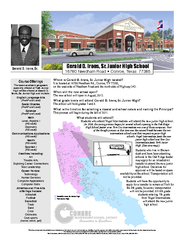 Where is Gerald D. Irons, Sr. Junior High located?It is located at 167