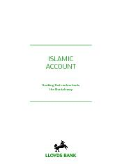ISLAMIC ACCOUNT