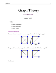 Graph TheoryVictor Adamchik        Fall of 2005         Plan1. Graph