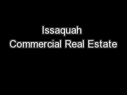 Issaquah Commercial Real Estate