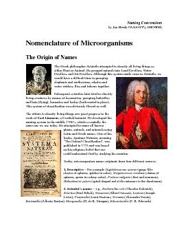 Naming Conventions by Jay Hardy CLS(ASCP), SM(NRM)   Nomenclature of M
