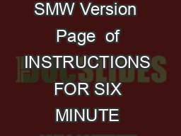 six minute walk test instructions
