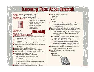 Interesting Facts About JeremiahInteresting Facts About JeremiahIntere