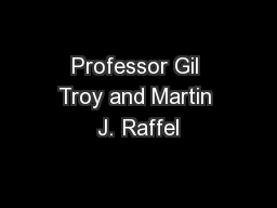 Professor Gil Troy and Martin J. Raffel