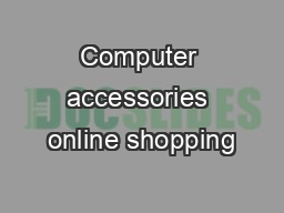 Computer accessories online shopping