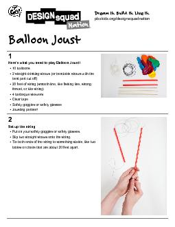 Here's what you need to play Balloon Joust!