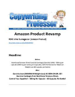 Amazon Product Revamp FOR Mike Burnagasser Amazon Product