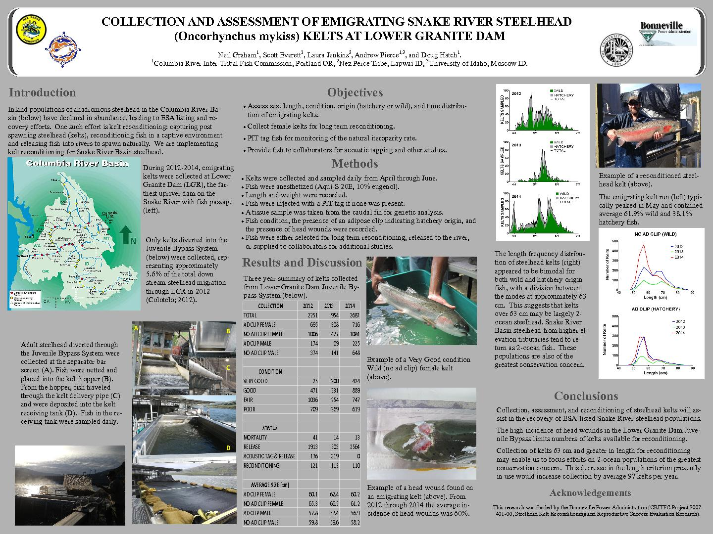 COLLECTION AND ASSESSMENT OF EMIGRATING SNAKE RIVER STEELHEAD  ...
