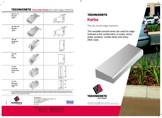 A versatile precast concrete kerbs for use as an PowerPoint PPT Presentation