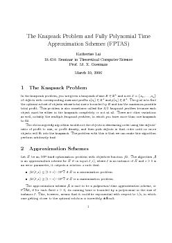 Thusthefullypolynomialtimeapproximationscheme,orFPTAS,isanapproximatio PDF document - DocSlides