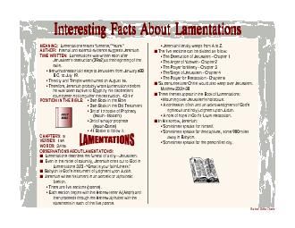 Interesting Facts About LamentationsInteresting Facts About Lamentatio
