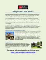Morgan Hill Real Estate PowerPoint PPT Presentation