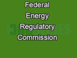 Federal Energy Regulatory Commission • Market Oversight &#x2022