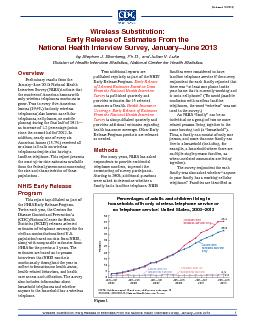 Wireless Substitution: Early Release of Estimates From the National He PowerPoint PPT Presentation