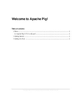 Copyright   The Apache Software Foundation