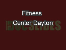 Fitness Center Dayton