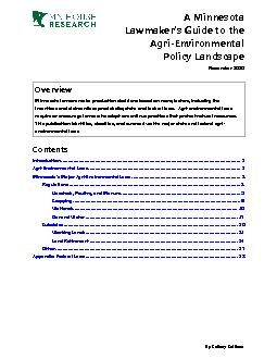 House Research DepartmentUpdated: October 2014AgriEnvironmental Policy