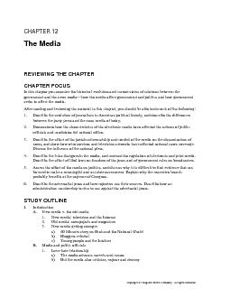 1. Describe the evolution of journalism in American political history,