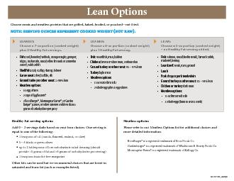 LEANEST: Choose a 7-oz portion (cooked weight) plus 2 Healthy Fat serv PowerPoint PPT Presentation