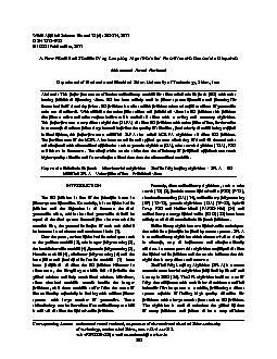 World Applied Sciences Journal 12 (6): 803-814, 2011ISSN 1818-4952