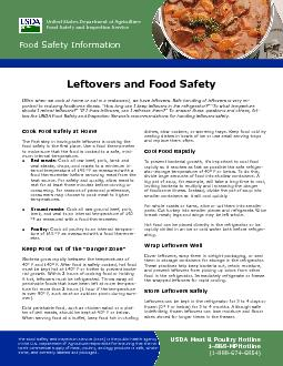 Leftovers and Food Safety PowerPoint PPT Presentation