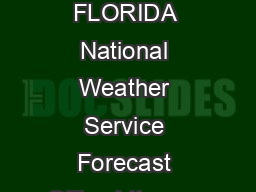 MIAMI SOUTH FLORIDA National Weather Service Forecast Office httpwww