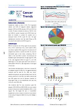 Cancer Trends No 6. Leukaemia  December 2010 More information on cance