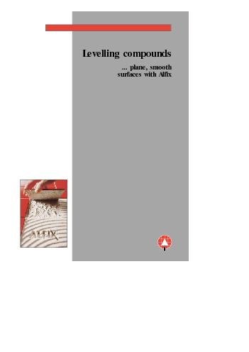 Levelling compounds... plane, smooth surfaces with Alfix