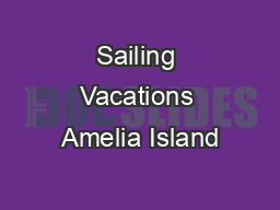 Sailing Vacations Amelia Island