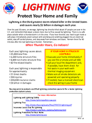 LIGHTNINGProtect Your Home and FamilyLightning is the third greatest s