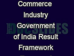 Rubber Board Responsibility Centre under Department of Commerce Ministry of Commerce  Industry Government of India Result Framework Document April  March  Rubber Board Responsibility Centre under Depa