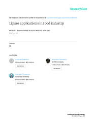 Indian Journal of Biotechnology Vol 6, April 2007, pp 141-158 Lipase a