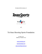 How to Survive Your First ATA Registered Shoot  By Roger Cox REGISTERED TRAPSHOOTING  THE BASICS PAGE  OF  ACKNOWLEDGEMENTS Special thanks to Roger Cox of Amarillo Texas for c omposing this pamph