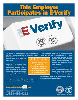 This Employer Participates in EVerify  PDF document - DocSlides