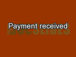 Payment received