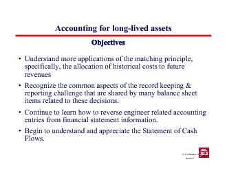 Accounting for long-lived assets