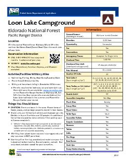 Loon Lake CampgroundEldorado National Forest District: Pacific Ranger