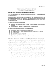Page 1 of 4 Attachment C TREE PRUNING, LOPPING AND TOPPING FREQUENTLY