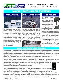 PSNAV systems are ideally suited for both military and civilian mariti