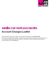 smile current accounts Your guide to charges  smile current accounts Your guide to the charges you can expect on your smile current account There are no charges for normal banking services as long as