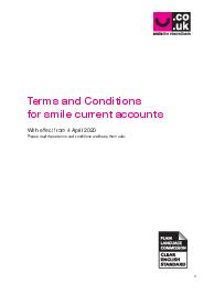 smile current account Terms and Conditions terms and conditions of the smile current account overdraft and debit card incorporating smilemore and smile student Terms and conditions of the smile curren PowerPoint PPT Presentation