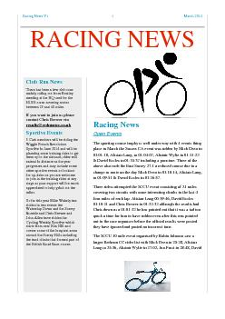 Racing News V1 1 March 2014 Racing News  Open Events