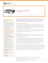 Luna Backup  (HSM) Product Brief