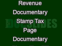 Florida Department of Revenue Documentary Stamp Tax Page Documentary Stamp Tax GT   R