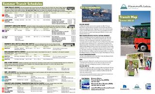 Eastern Sierra Transit Authority (ESTA)7609243184Mammoth Area Shuttle