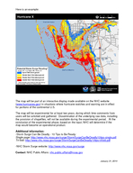 National Hurricane Center to issue new storm surge map Beginning with the  Atlantic hurricane season NOAA s National Hurricane Center NHC will issue the Potential Storm Surge Flooding ap for those ar